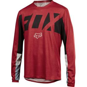 Fox Indicator Drafter Long Sleeve Jersey Men dark red